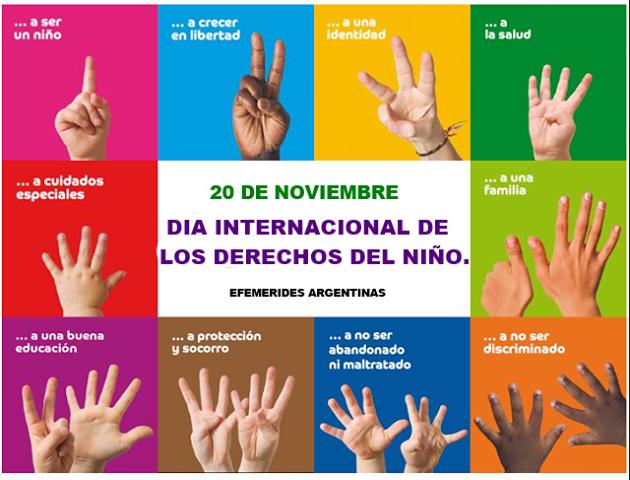 """Afiche """"Día internacional de los derechos de la niñez"""""""