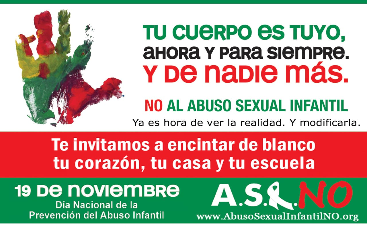 Campaña A.S.I NO, Abuso sexual infantil NO