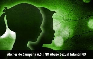 Afiches de Campaña A.S.I NO Abuso Sexual Infantil NO